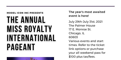 2021 Miss Royalty International Pageant tickets
