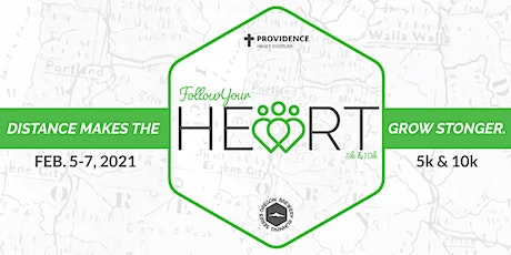 Providence Heart to Start Follow your Heart 5k, 10k virtual run/walk tickets