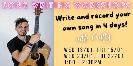 Songwriting & Recording with Crafty tickets