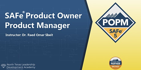 Virtual Session (Weekend) - SAFe Product Owner Product Manager (POPM) tickets