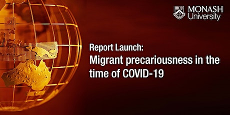 Report Launch: Migrant precariousness in the time of COVID-19 tickets