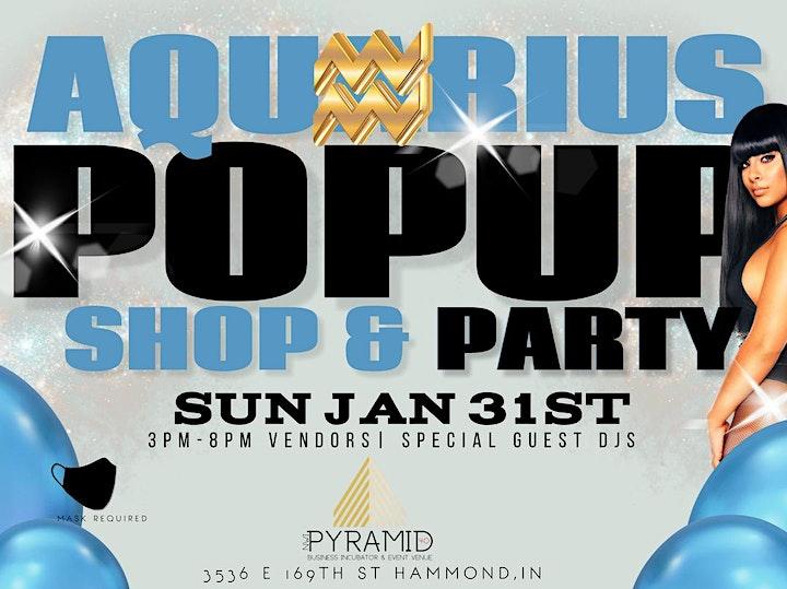 Aquarius Pop Up Shop & Party image