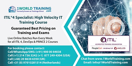 ITIL 4 Specialist High Velocity IT  -  Axelos -  PeopleCert - SALE tickets