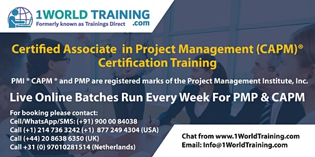 Certified Associate in Project Management (CAPM)® by 1World Training tickets