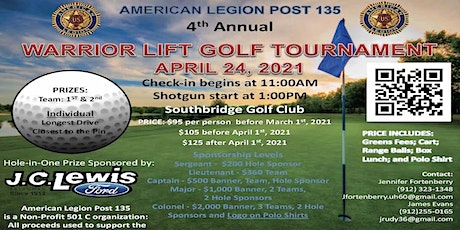 4th Annual Warrior Lift Golf Tournament tickets
