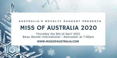 Miss & Mister of Australia 2021 tickets