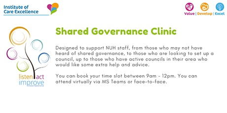 Shared Governance Clinic ingressos