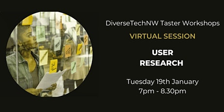 User Research Taster - DiverseTechNW tickets