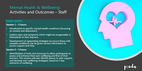 Mental Health and Wellbeing for ACL Tutors (MHS10) tickets