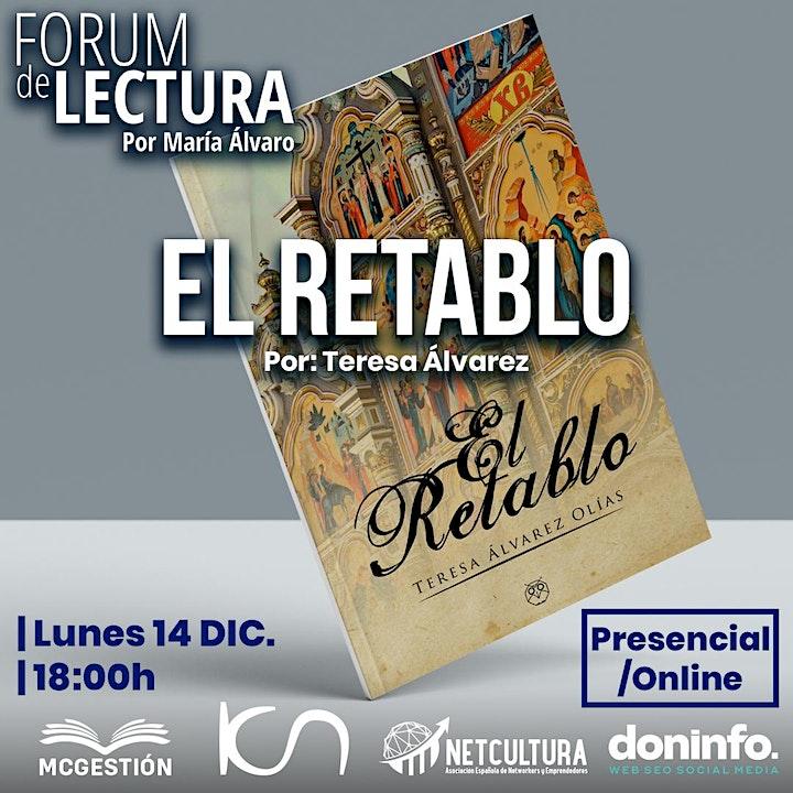 """Imagen de Fórum de Lectura - """"El Retablo"""" por Teresa Álvarez - Online&Presencial"""