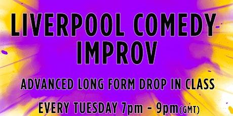 Advanced / Long Form Improv Drop-in Class (Online) tickets