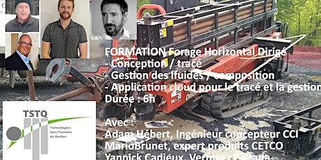 Formation forage horizontal dirigé - 3 cours - 3 formateurs tickets