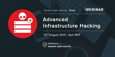 Advanced Infrastructure Hacking - Free Webinar bilhetes