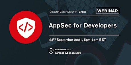 AppSec for Developers - Webinar tickets