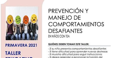 Prevención y Manejo De Comportamientos Desafiantes tickets
