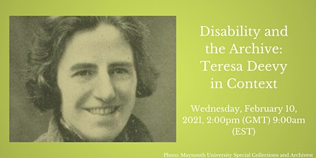 Disability and the Archive: Teresa Deevy in Context tickets