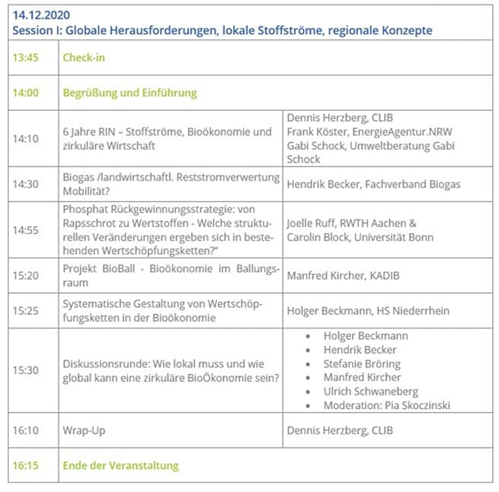 RIN Stoffströme Jahrestagung 2020  - Session I: Bild