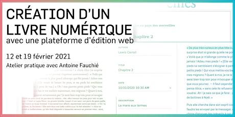 Création d'un livre numérique avec une plateforme d'édition web billets