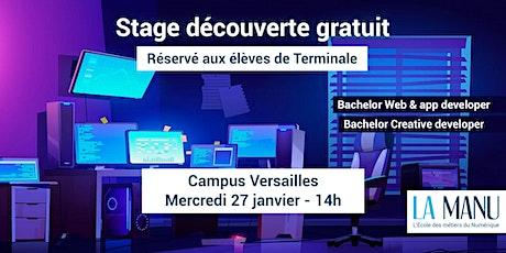 Stage découverte gratuit : coding & webdesign - Réservé élèves de Terminale billets