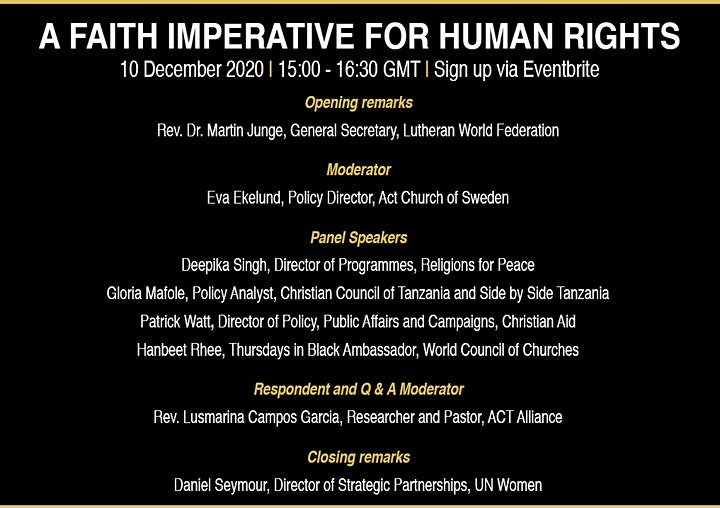 A Faith Imperative For Human Rights image