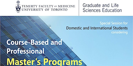 Special Session for Course-Based and Professional Master's Programs tickets