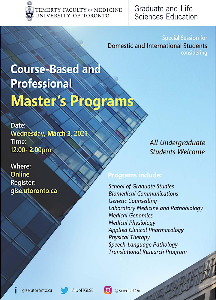 Special Session for Course-Based and Professional Master's Programs image