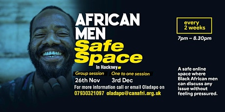 African Migrant, Men Safe Space tickets