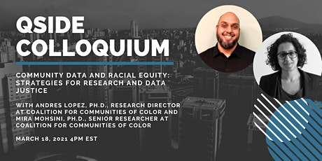 Community Data and Racial Equity: Strategies for Research and Data Justice tickets