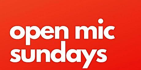 OPEN MIC SUNDAYS billets