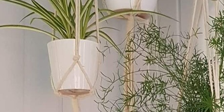 Gardening Lady Macrame Plant Hanger Workshop 3 tickets