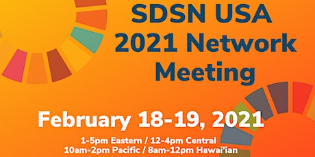 SDSN USA 2021 Network Meeting tickets