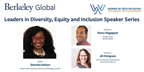 Conversation with Shareka Nelson, Diversity, Inclusion, Belonging, Coursera tickets