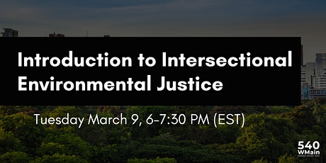 Introduction to Intersectional Environmental Justice tickets