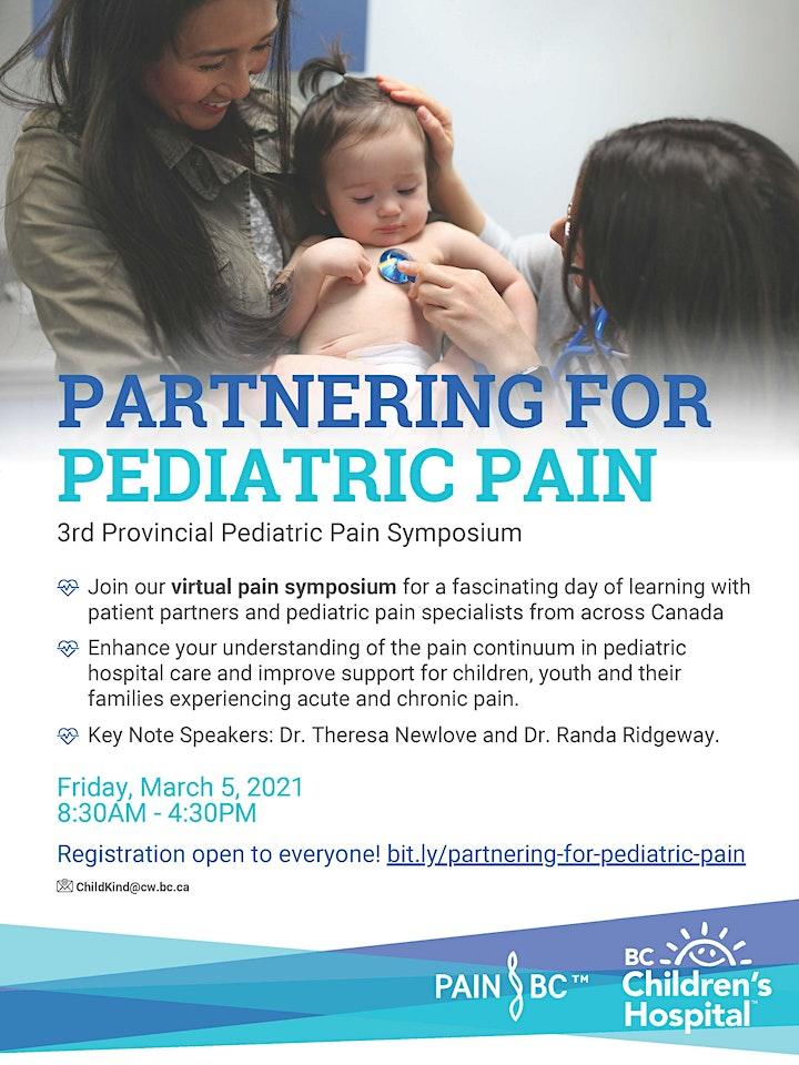 Partnering for Pediatric Pain: 3rd  Provincial Pediatric Pain Symposium image