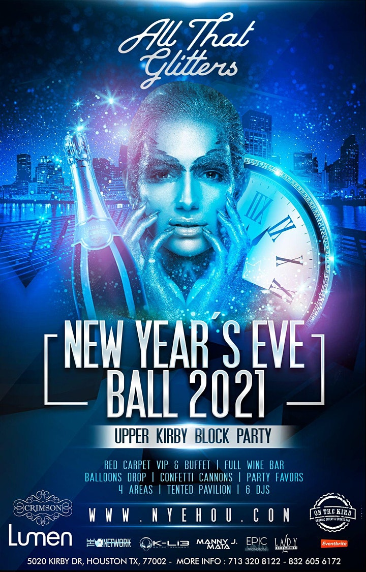 NYE PARTY 2021/ ALL THAT GLITTERS 6 UPPER KIRBY BLOCK PARTY image
