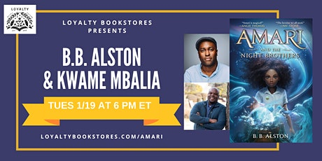 B.B. Alston and Kwame Mbalia for AMARI AND THE NIGHT BROTHERS tickets