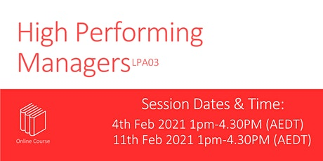 High Performing Managers LPA03 tickets