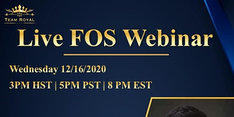 LIVE FINANCIAL OPPORTUNITY WEBINAR tickets