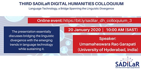 SADILAR DIGITAL HUMANITIES DH COLLOQUIUM tickets