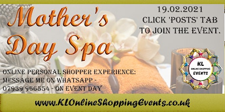 Mothers Day Spa Online Shopping Event tickets