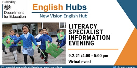 Literacy Specialist Recruitment at New Vision English Hub tickets
