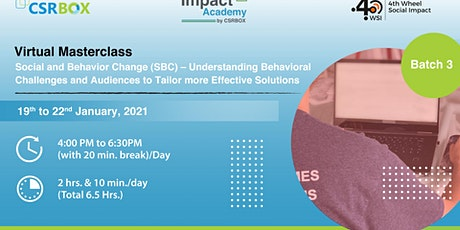 Copy of Virtual Masterclass: Social Impact Measurement and Management tickets