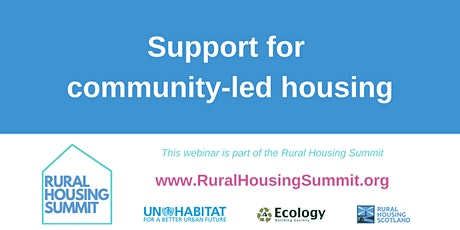 Support for community-led housing tickets