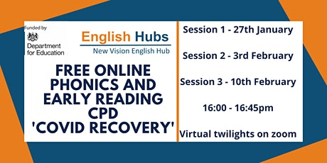 Free online Phonics and Early Reading CPD 'Covid recovery' tickets