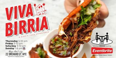 A Birria Taco Experience. tickets