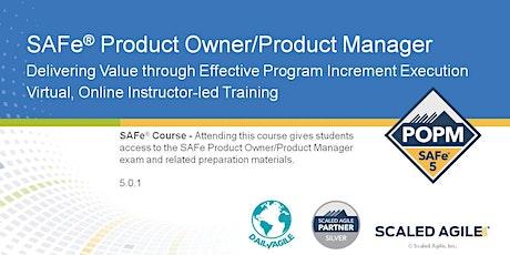 SAFe 5.0 Product Owner Product Manager (POPM) Training, Europe, UK tickets