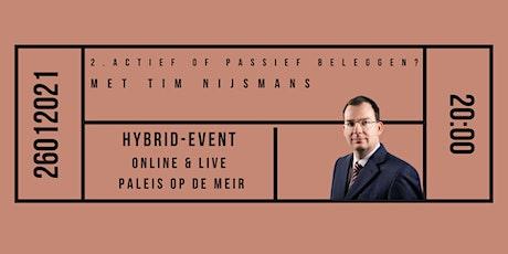 2. Actief of passief beleggen? Met Tim Nijsmans tickets