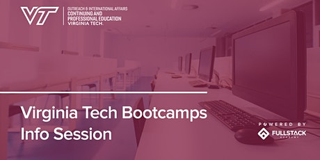 Online Info Session | Virginia Tech Bootcamps tickets