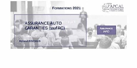 Assurances Auto Garantie Combinée (hors RC) tickets