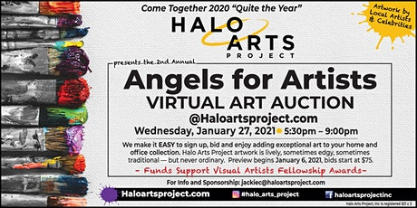Halo Arts Project presents Angels for Artists Virtual Art Auction tickets